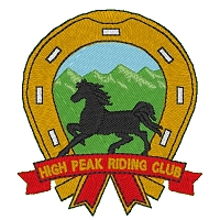 Embroidered High Peak Riding Club Logo