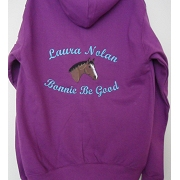 Embroidered Riding Hoody