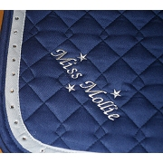 Embroidered Saddle Pad / Numnah