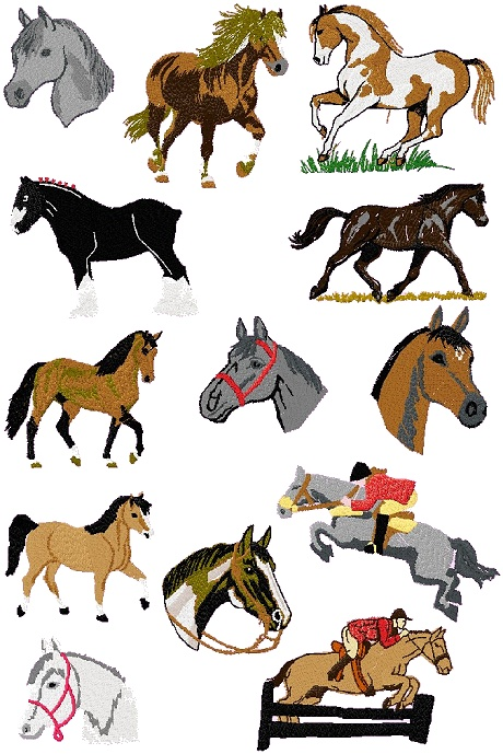 Horse Cross Stitch Patterns | Knit Wits offering knitting